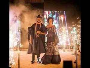 Video: Watch Banky W & Adesua Etomi Grand Entrance At Their Wedding Reception